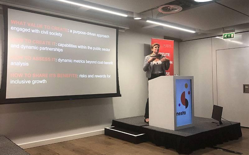 Mariana Mazzucato at Rethinking Public Value event