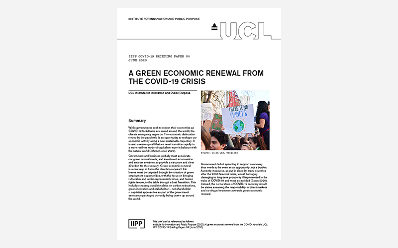 Accelerating the Green Transition to a Post-Covid-19 Renewal