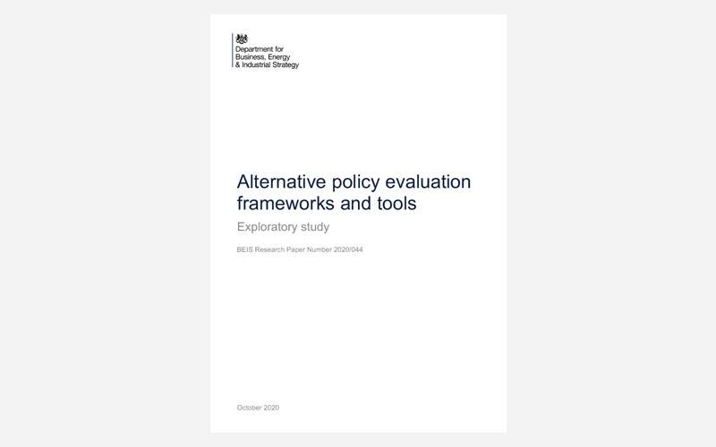 Alternative policy evaluation frameworks and tools