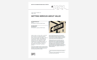 Getting serious about value policy brief