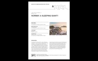 IIPP PB13 Norway: A sleeping giant