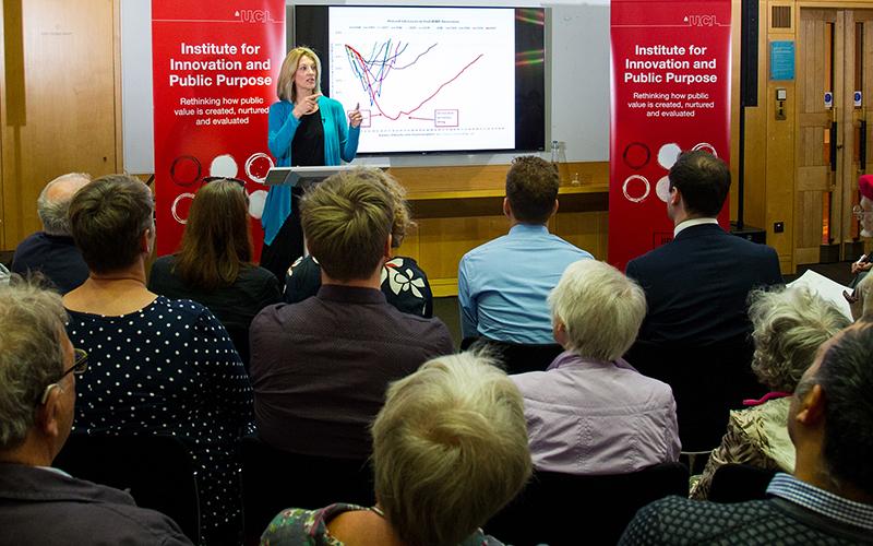 Stephanie Kelton talks at the British Library on the public purse