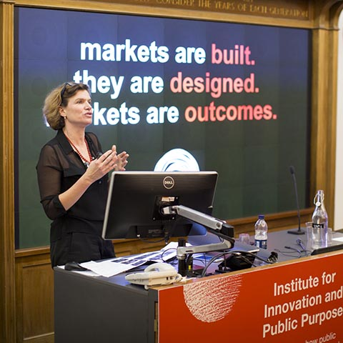 Professor Mariana Mazzucato, IIPP launch October 2017