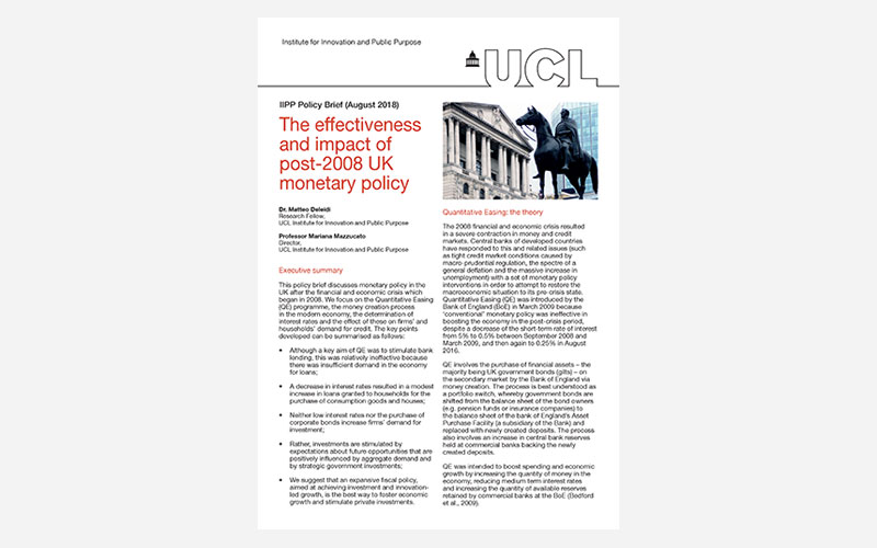 Effectiveness and impact of post-2008 UK monetary policy