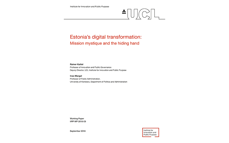 Estonia's digital transformation: Mission mystique and the hiding hand
