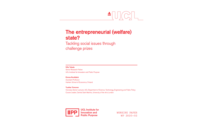 IIPP Working Paper 2020-02: The Entrepreneurial (Welfare) State?