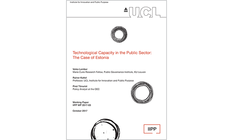 Technological Capacity in Public Sector: The Case of Estonia