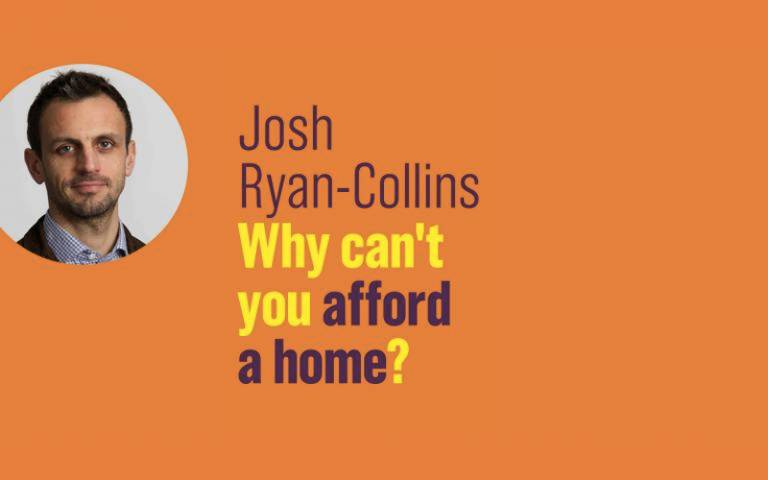 Book launch talk: 'Why can't your afford a home?' by Josh Collins
