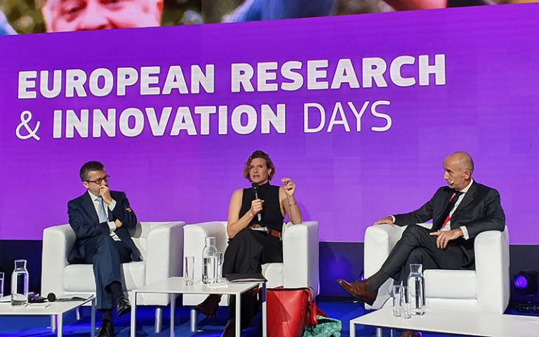 Professor Mazzucato and EU Commissioner discusses importance of IIPP missions approach within Horizon EU framework in Brussels