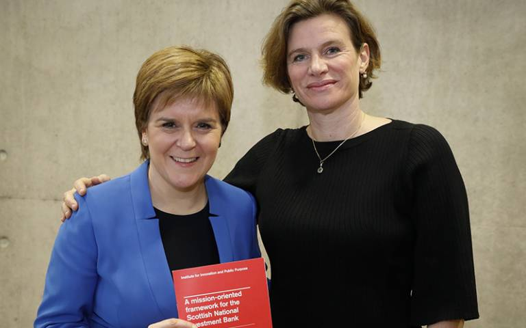 Nicola Sturgeon and Mariana Mazzucato