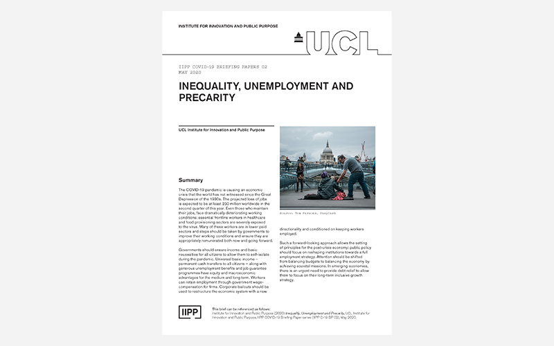 Inequality, Unemployment and Precarity