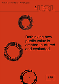 Rethinking how public value is created, nurtured and evaluated - IIPP prospectus - cover