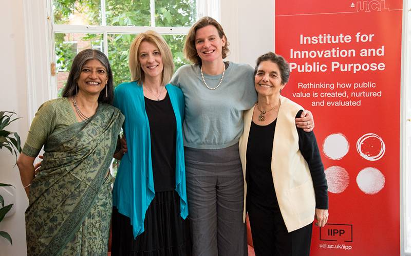 Jayati Ghosh, Stephanie Kelton, Mariana Mazzucato and Carlota Perez, 2018