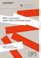 IIPP Master of Public Administration leaflet