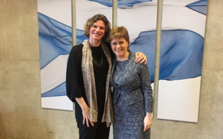Mariana Mazzucato and Nicola Sturgeon