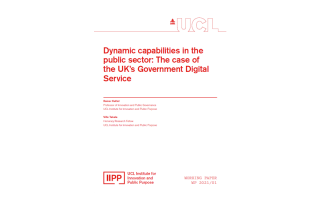 IIPP WP 2021-01 Dynamic capabilities in the public sector