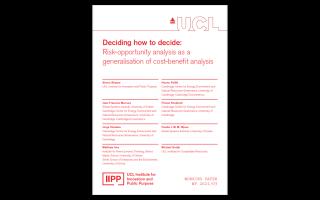 IIPP WP 2021/03 Deciding how to decide