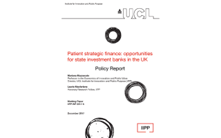 Patient Strategic Finance: opportunities for state investment banks in the UK