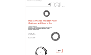 Working Paper 2017-1: Mission-Oriented Innovation Policy: Challenges and Opportunities