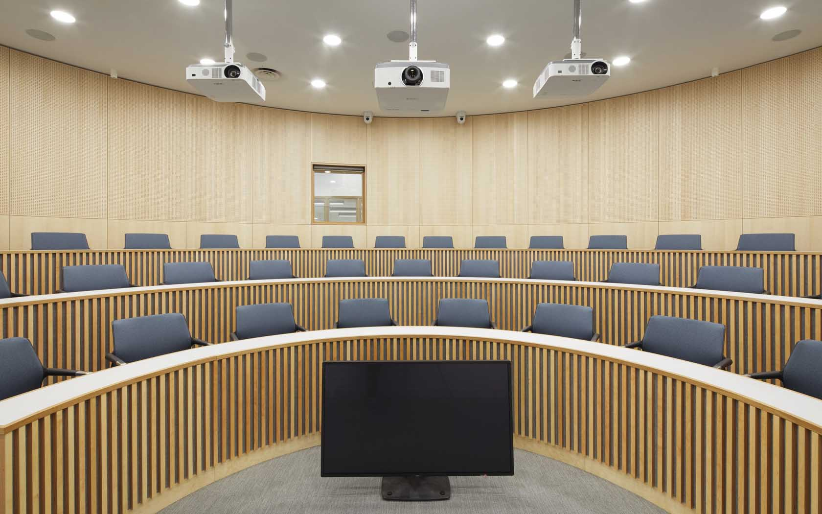 A view of the lecture theatre at the Bartlett Real Estate Institute