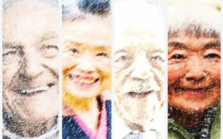 Four faces from ageing populations in Japan/UK