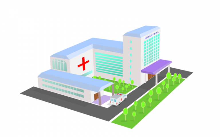 Healthcare facilities 3d design image