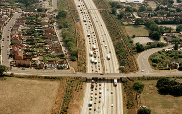 aerial view of m25
