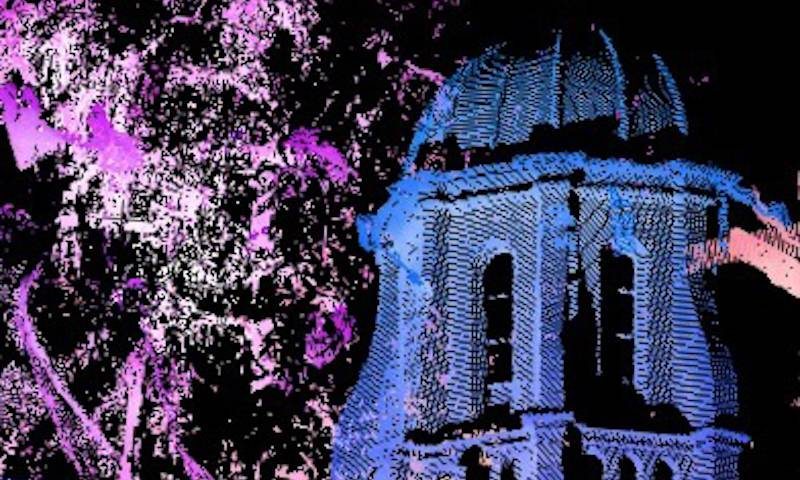Inverted image of Old Museum