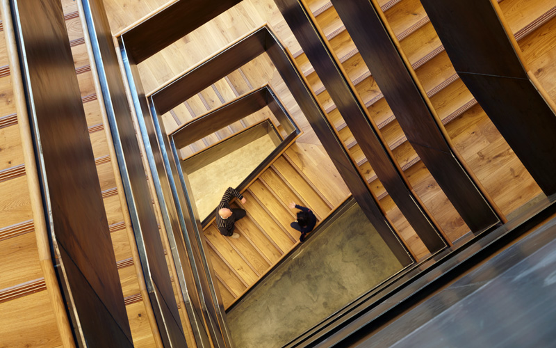The new staircase at 22 Gordon Street, seen from above