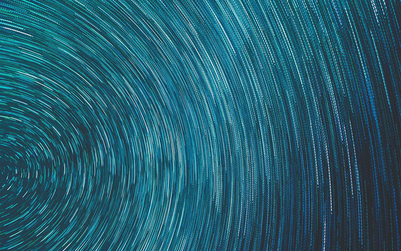 Abstract image of blue swirl