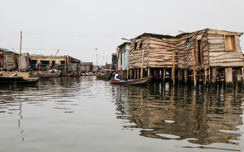 Image of houses on stilts