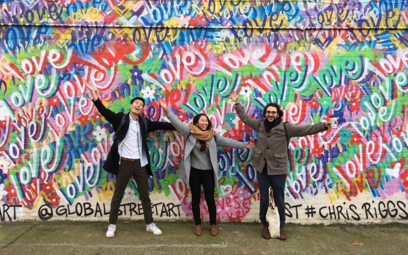 Students on field trip in London