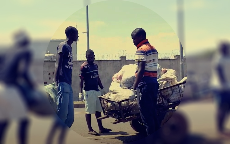 Waste management in Kisumu, Kenya - blurred