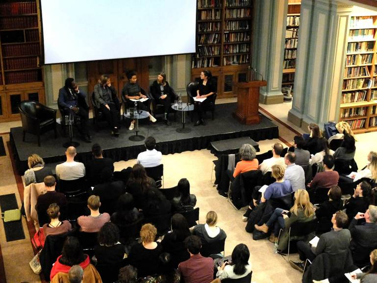 Panel discussion at RA event