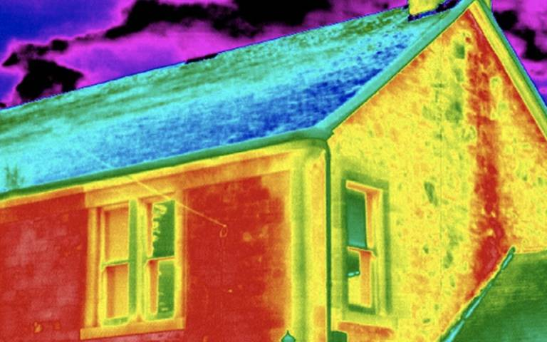 thermal energy image of house