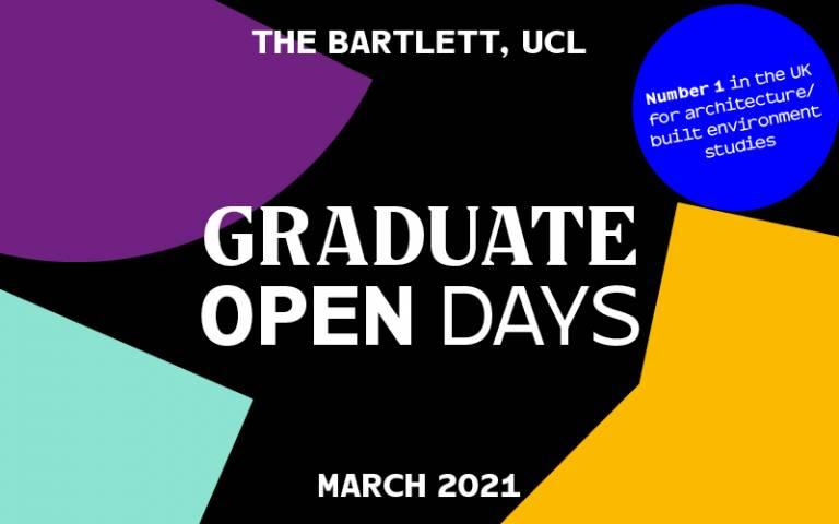 Bartlett Graduate Open Days, March 2021