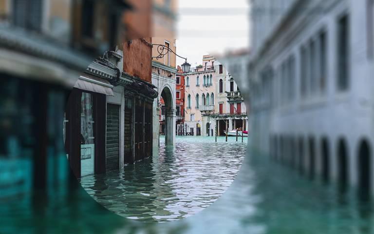 A flooded city - Photo by Nastya Dulhiier on Unsplash
