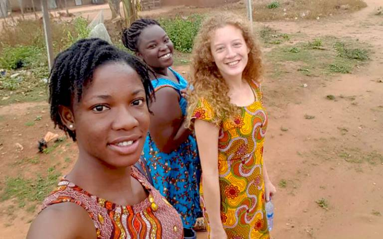Fanny Froehlich and here two research assistants in Ghana