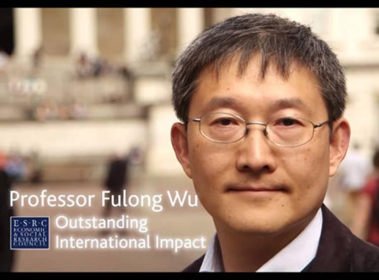 Prof. Fulong Wu, winner of ESRC Outstanding International Impact Prize 2013