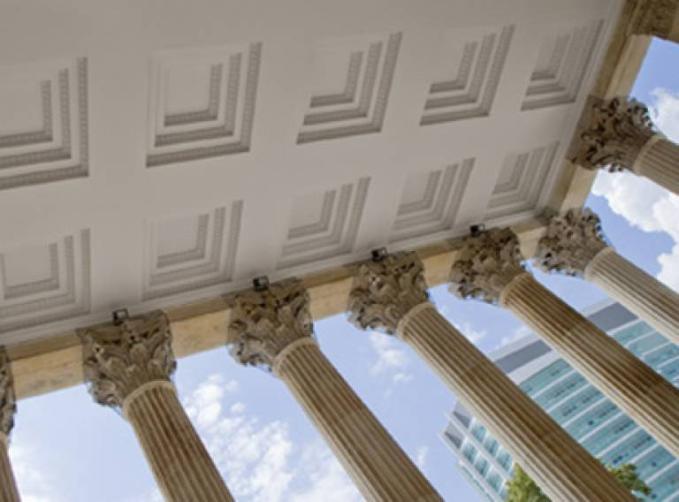 UCL-portico-view from beneath