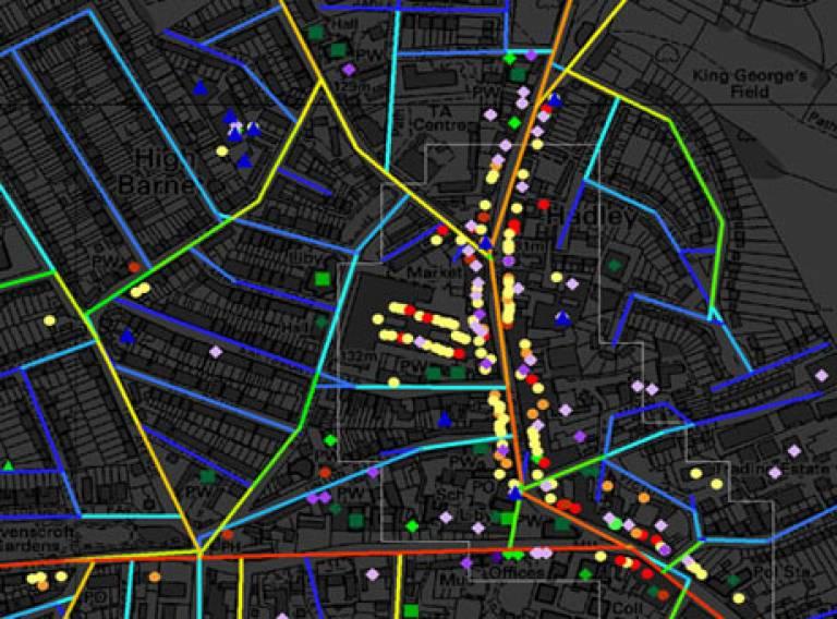 Spatial analysis map
