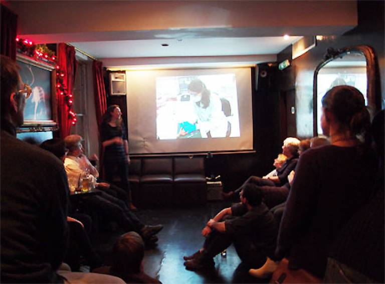 Katherine Curran, Centre for Sustainable Heritage, presenting at The Bartlett Showoff
