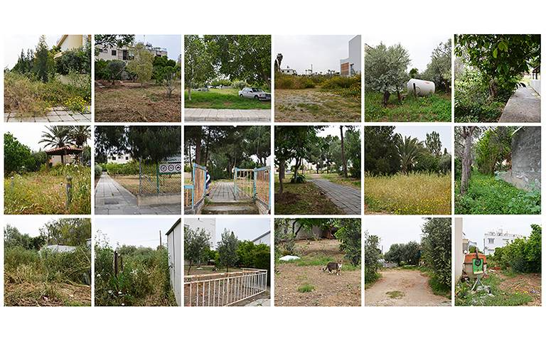 Photographs of public leftover sites, produced as by-products of urban sprawl, in the suburban area of Nicosia
