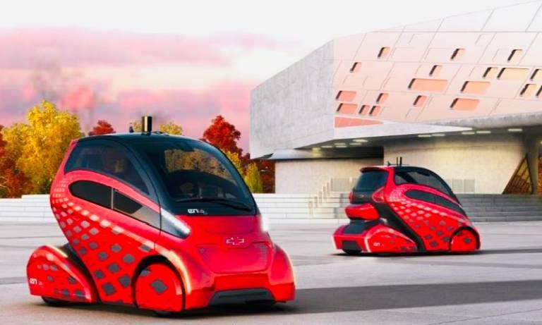 Futuristic car illustration
