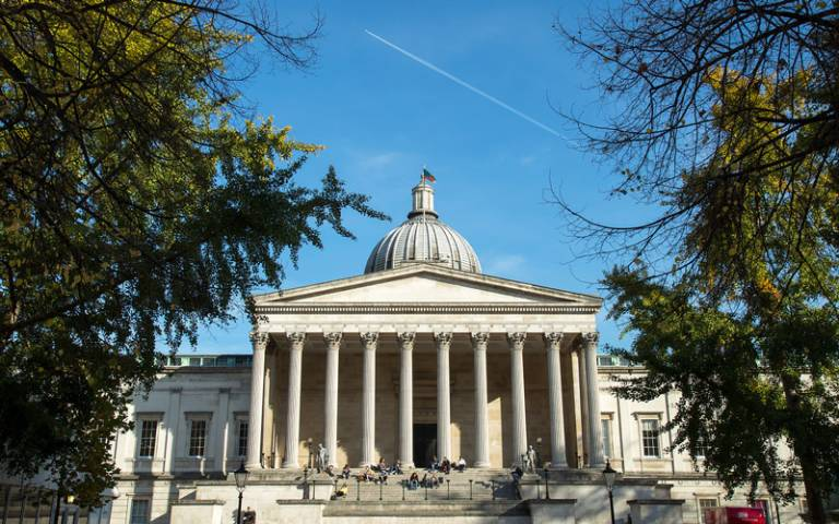 The portico at UCL