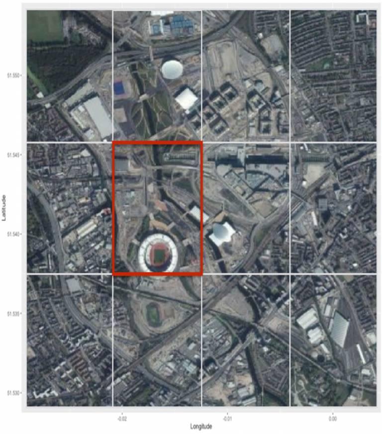 Landscan grid Queen Elizabeth Olympic Park