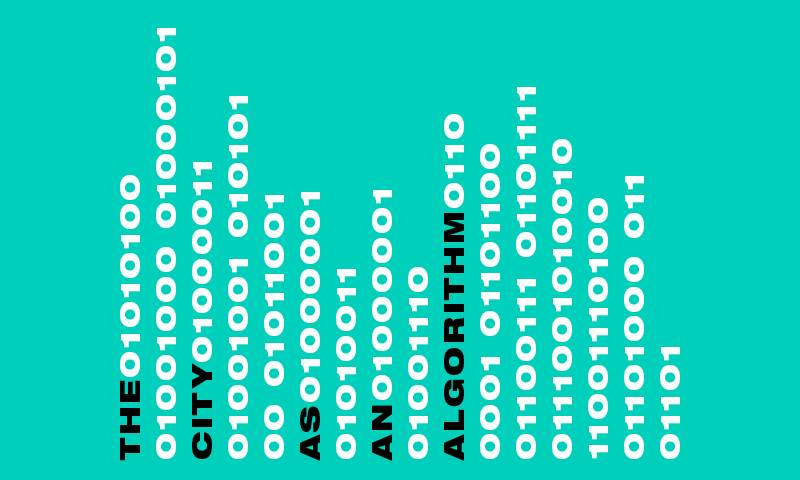 """Graphic design that reads """"the city as an algorithm"""""""