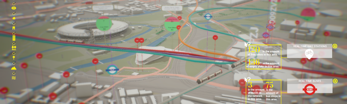 Digital Twin model of Queen Elizabeth Park with realtime data