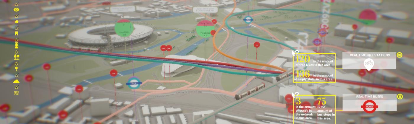 Digital Twin model of Queen Elizabeth Park with realtime data
