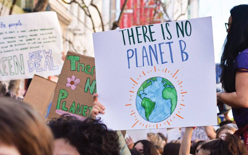 this is an image of a poster that says no planet b